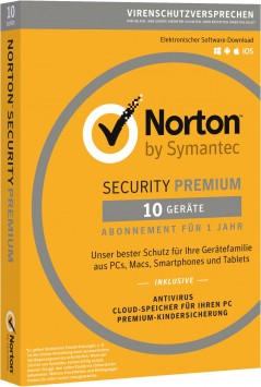 Symantec Norton Security 3.0 Premium 25GB 10User